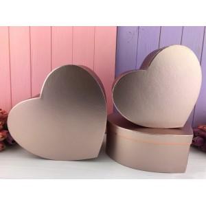 "Коробка в форме сердца ""Металлик"" пудра 3 шт."