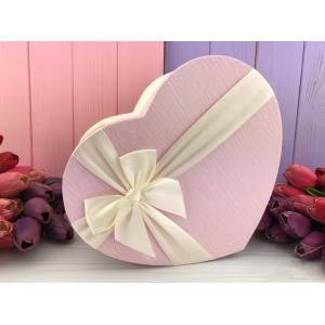 "Коробка в форме сердца ""Pink and white"" розовая 3 шт."