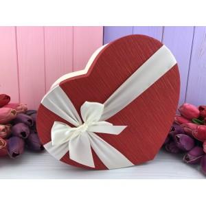 """Коробка в форме сердца """"Red and white"""" красная 3 шт."""