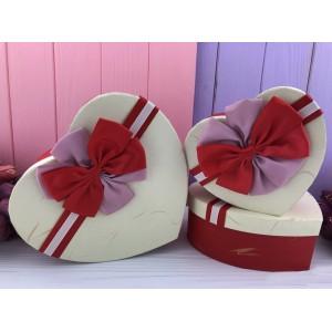 """Коробка в форме сердца """"SunShine"""" красная"""