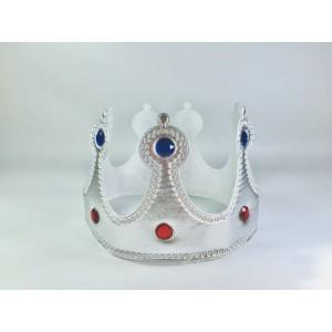Корона мягкая серебряная