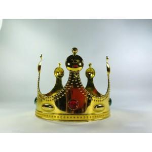 Корона пластиковая золотая детская