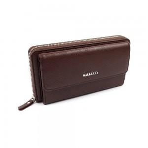 Мужской кошелёк Wallerry XY5515 коричневый