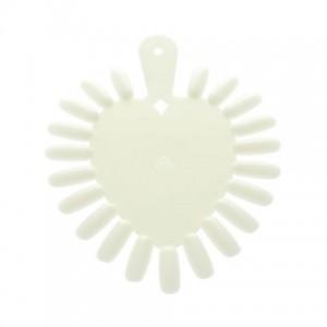 Палитра для красок Сердце (молочная) 10 шт