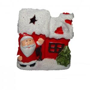 Подсвечник Домик с Дедом Морозом