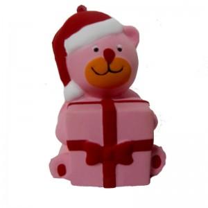 Сквиши Новогодний Медвеженок с подарком
