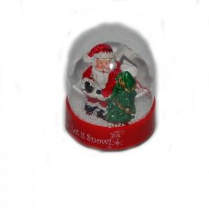 Сувенир музыкальный шар со снегом Дед Мороз