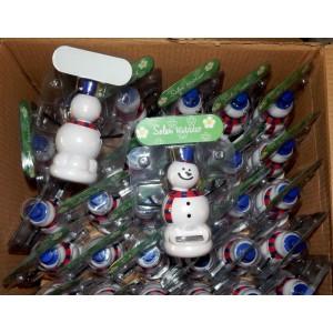 Сувенир Танцующий Снеговик на солнечной батарее