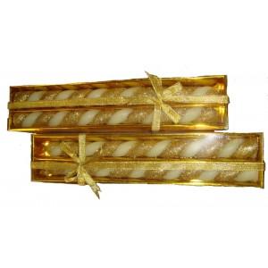 Свеча праздничная Золотая Косичка 30 см 2 шт