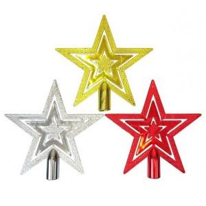 """Верхушка на елку """"Тройные звезды"""", 100 мм"""