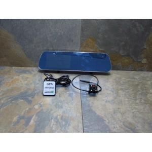 """Видеорегистратор-зеркало D22 Сенсор Экран 5"""" Дюймовый - GPS Навигатор + 2 Камеры"""