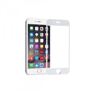 Защитное стекло Full Glue для iPhone 6 Plus (в картонной упаковке)- белый