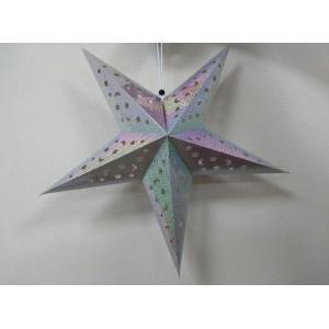 Бумажная разноцветная звезда для декора 60 см
