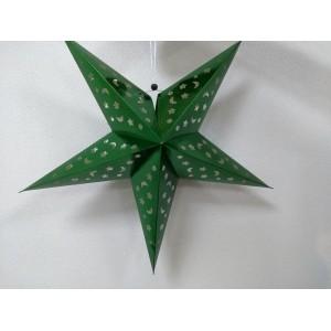 Бумажная зеленая звезда для декора 60 см
