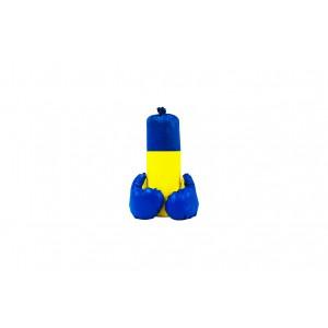 """Боксерський набір """"Ukraine"""" маленький ( висота 40 см, діаметр 14 см)"""