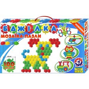 Іграшка мозаїка-пазли Бджілка (100 деталей)