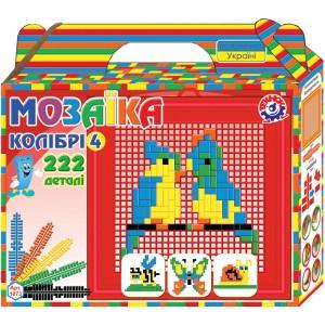 Іграшка мозаїка Колібрі 4 (222 деталі)