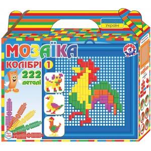 Іграшка мозаїка Колібрі 1 (222 деталі)