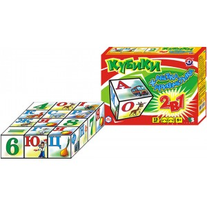 Іграшка кубики Абетка+Арифметика  (укр.)
