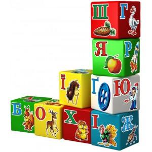 Іграшка кубики Абетка Веселка (укр.)