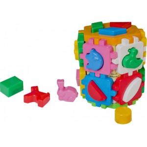 Іграшка куб Розумний малюк 1+1