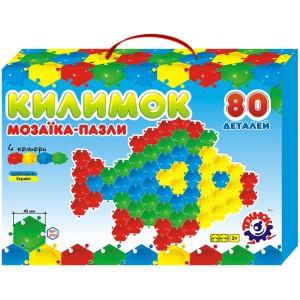 Іграшка мозаїка-пазли Килимок (80 деталей)