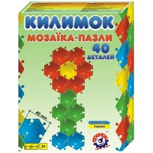 Іграшка мозаїка-пазли Килимок  (40деталей)
