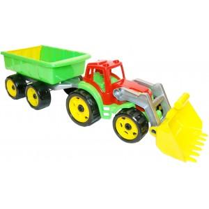 Іграшка Трактор з ковшем і причепом, арт. 3688