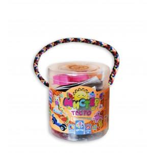 Набір тіста для ліпки 71101, Містер тісто 12 кольорів з блискітками, у блістері 11*13см