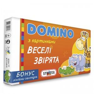 """Доміно 30665 (укр) Стратег, """"Веселі Звірята"""", в кор-ці, 35,3-20-3см"""