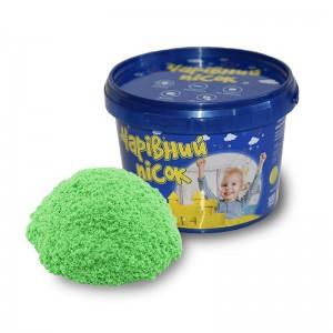 Песок зелёного цвета 312-5 в ведре 0,5 кг