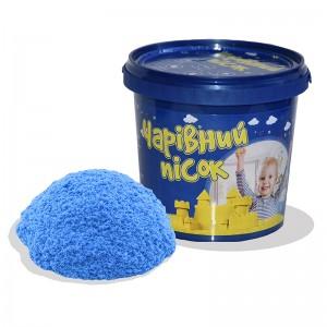 Песок голубого цвета  в ведре 1 кг