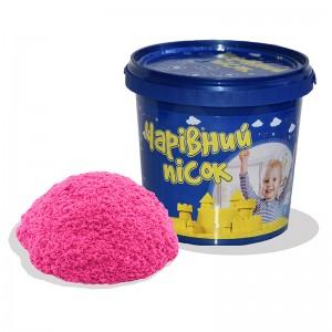 Песок розового цвета  в ведре 1 кг