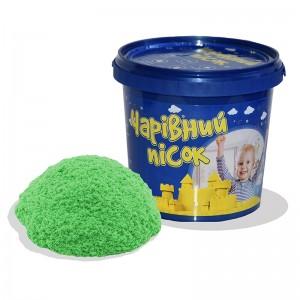 Песок зелёного цвета  в ведре 1 кг