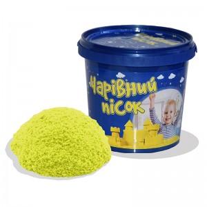 Песок жёлтого цвета  в ведре 1 кг