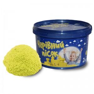 Песок жёлтого цвета  в ведре 2 кг