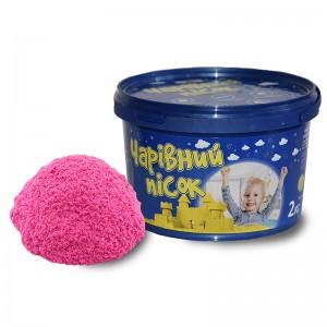 Песок голубого цвета с ароматом черники  в ведре 2 кг