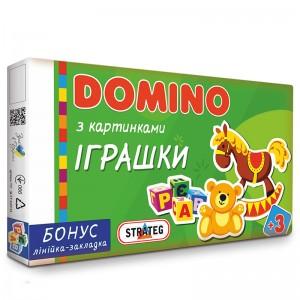 """Доміно 677 (укр) Стратег, """"Іграшки"""", в кор-ці, 35,3-20-3см"""