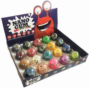 Nano Gum в капсулах 50 грамм 880. Ассорти 17 видов, 20 шт в блоке. 2 блока в упаковке.