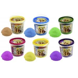 Magic sand - MIX 6 цветов, ведро 1 кг (036-3)