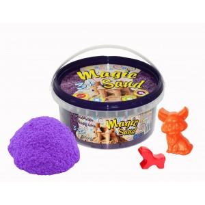 Magic sand сиреневого цвета в ведре 0,350 кг