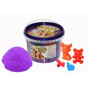 Magic sand сиреневого цвета в ведре 0,500 кг