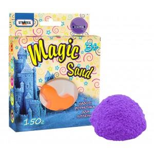 Magic sand сиреневого цвета,  с формочкой 0,150 кг