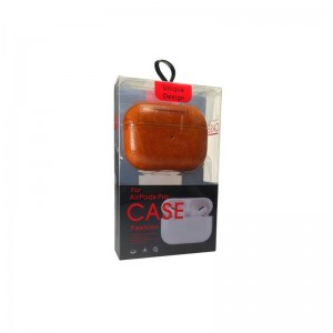 Чехол для Apple AirPods кожа в коробке - set 1