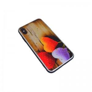Чехол Силикон Glass Print - 3 Hearts