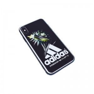 Чехол Силикон Glass Print - Adidas Black