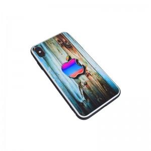 Чехол Силикон Glass Print - Apple