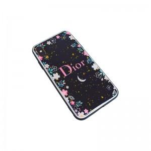 Чехол Силикон Glass Print - Dior