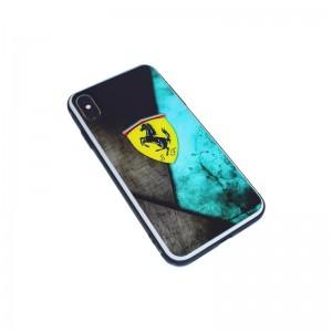 Чехол Силикон Glass Print - Ferrari Green
