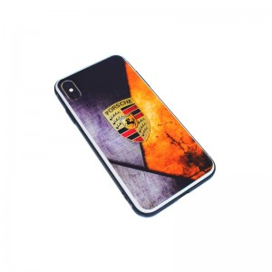 Чехол Силикон Glass Print - Ferrari Orange